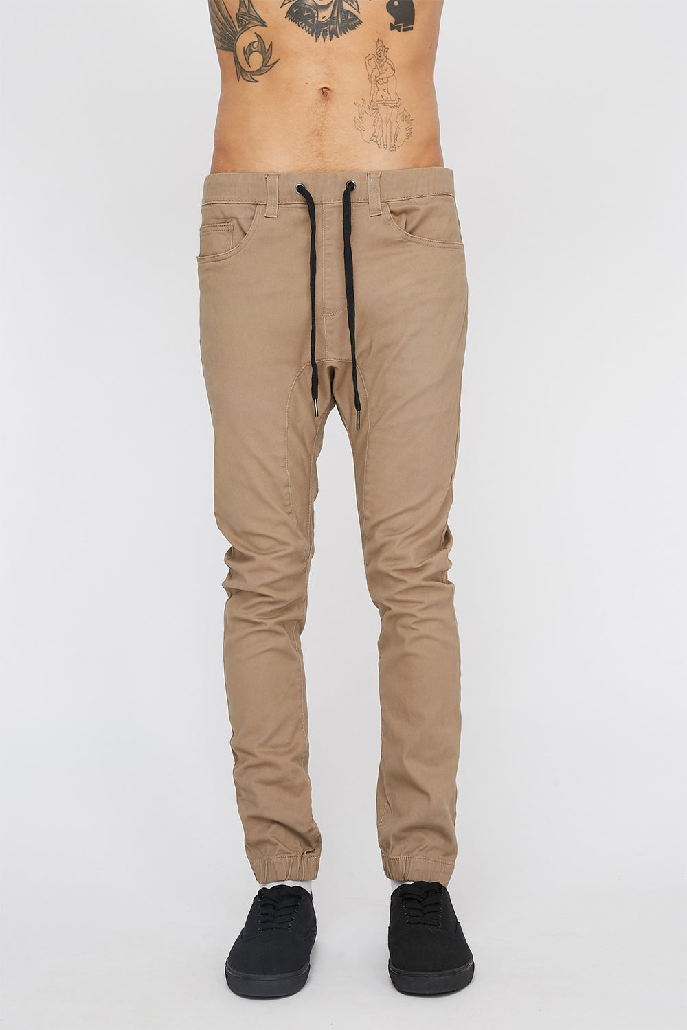 Zoo York Mens 5-Pocket Jogger Sand