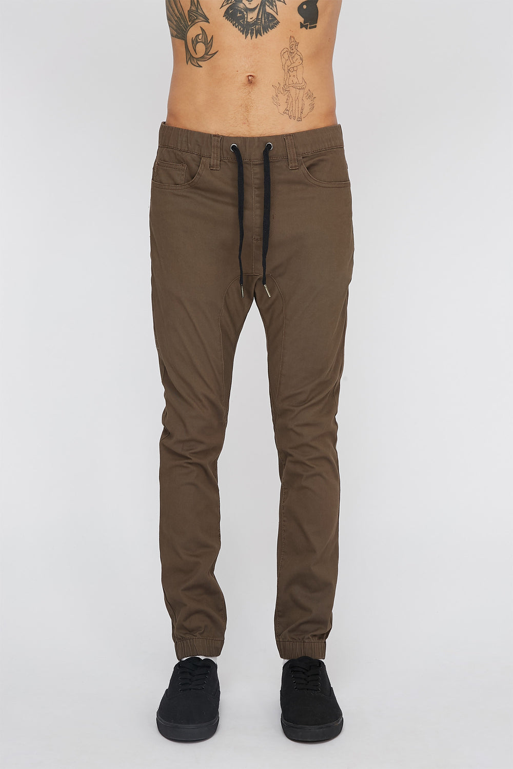 Zoo York Mens 5-Pocket Jogger Brown