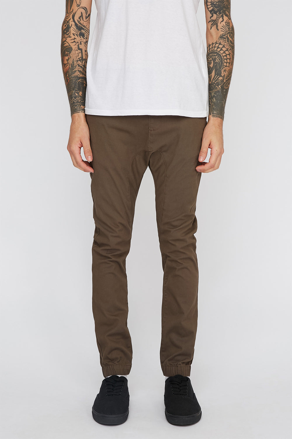 Jogger À 5 Poches Zoo York Homme Brun