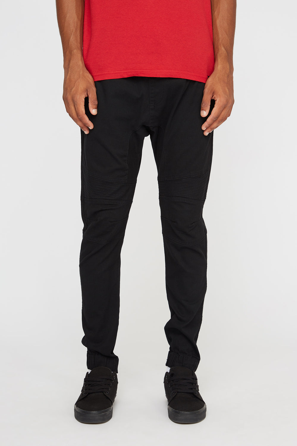 West49 Mens Moto Jogger Black