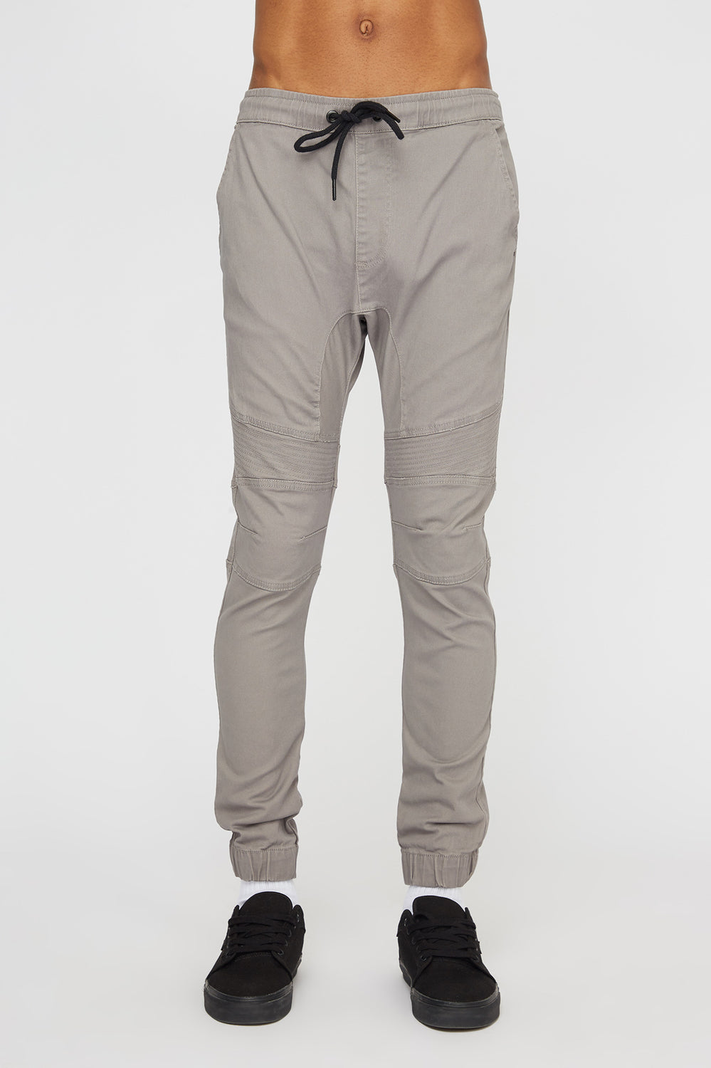 West49 Mens Moto Jogger Light Grey
