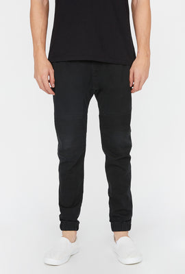 West49 Mens Solid Twill Moto Jogger