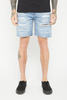 Zoo York Mens 5 Pocket Light Wash Denim Short