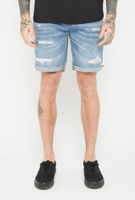 Zoo York Mens 5 Pocket Medium Wash Denim Short
