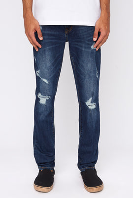 Zoo York Mens Distressed Stretch Skinny Jeans