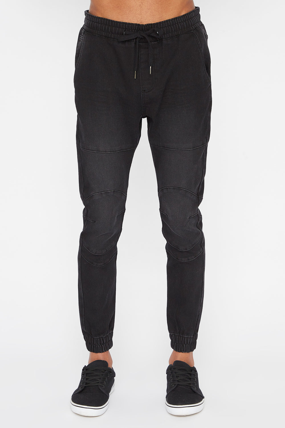 Zoo York Mens 5-Pocket Light Wash Jogger Jean Black