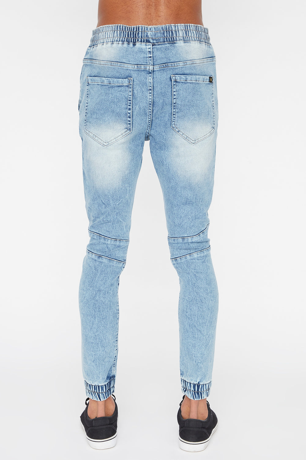 Zoo York Mens 5-Pocket Light Wash Jogger Jean Baby Blue