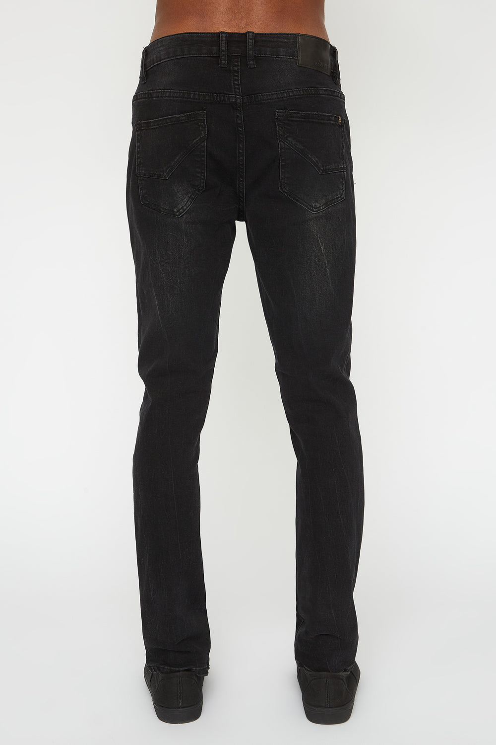 Zoo York Mens Distressed Black Stretch Skinny Jeans Black