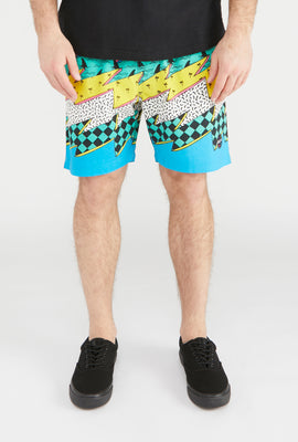 West49 Mens 90s Style Beach Shorts