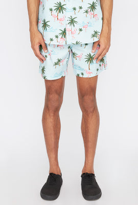 Short Avec Motif Flamants Roses Zoo York Homme