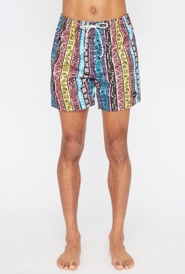 Short de Plage Aztèque West49 Homme