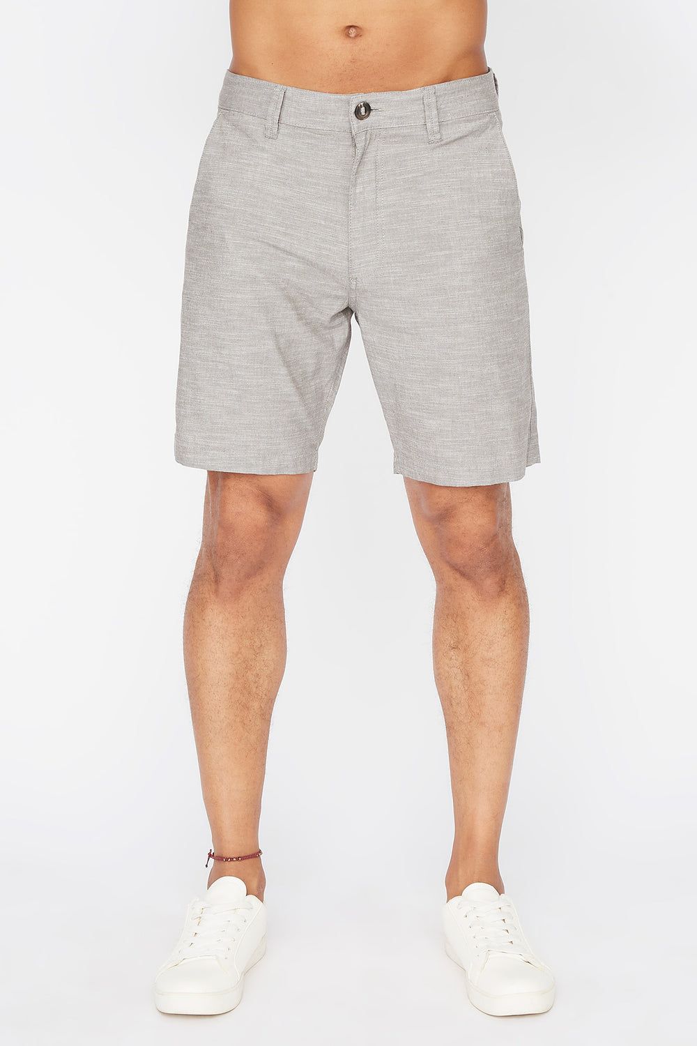 Short Mince Couleur Unie West49 Homme Gris pale