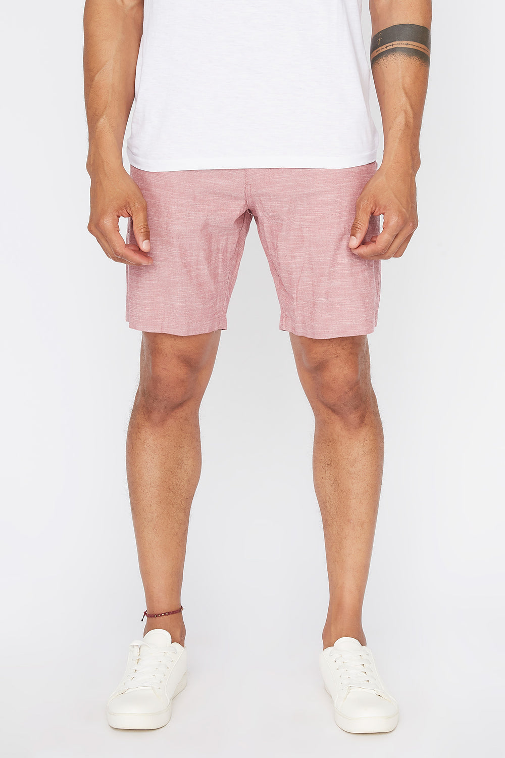 Short Mince Couleur Unie West49 Homme Rose
