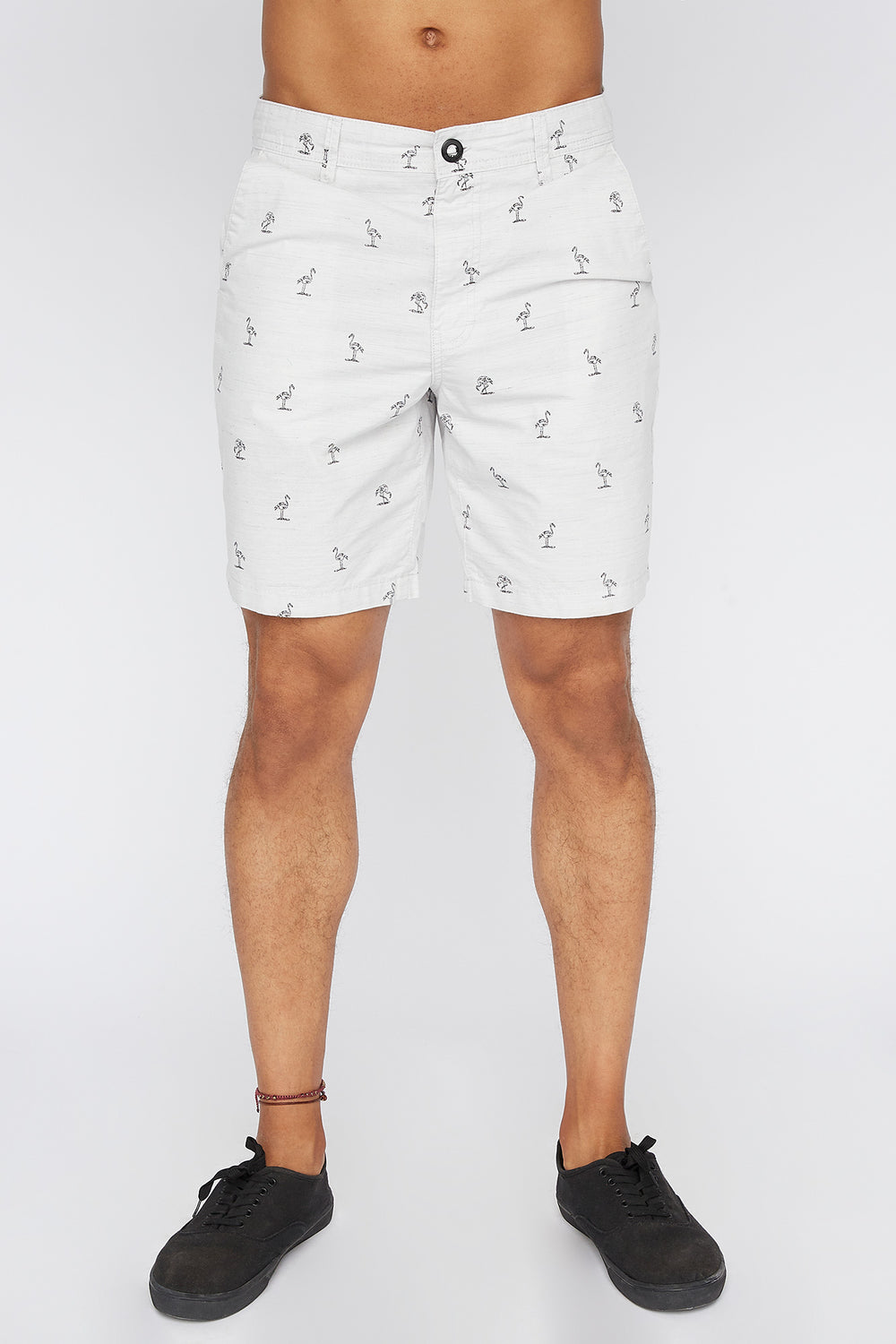 Zoo York Mens Flamingo Ditsy Short Heather Grey