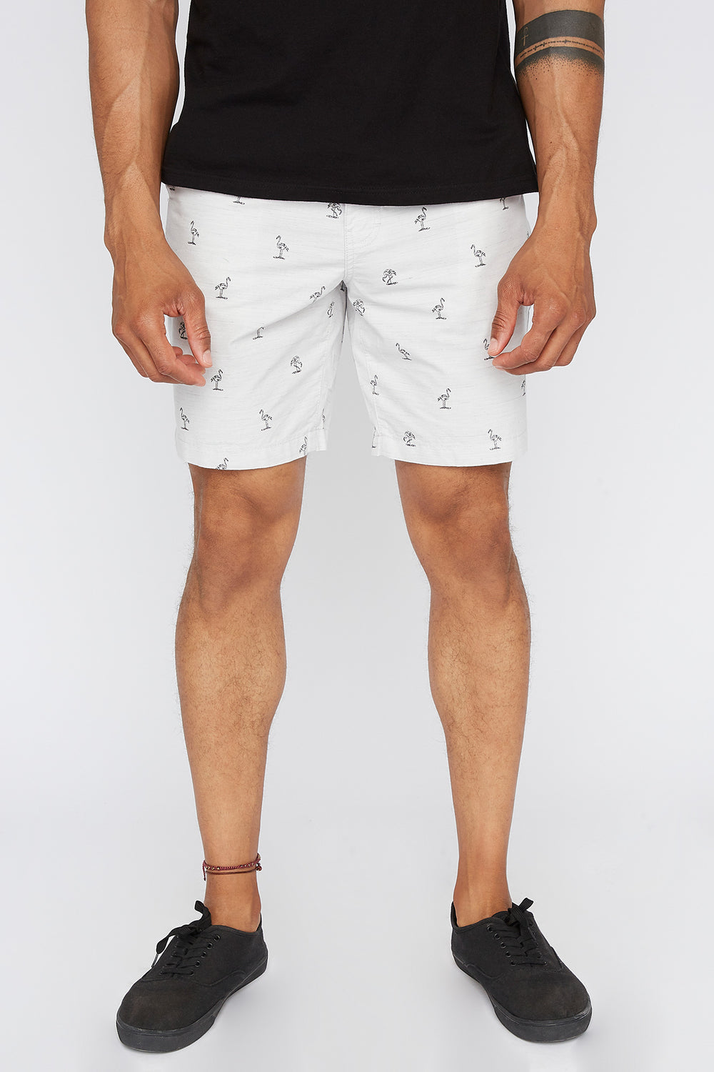 Short Flamant Rose Zoo York Homme Gris
