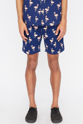 Zoo York Mens Tropical Print Easy Short