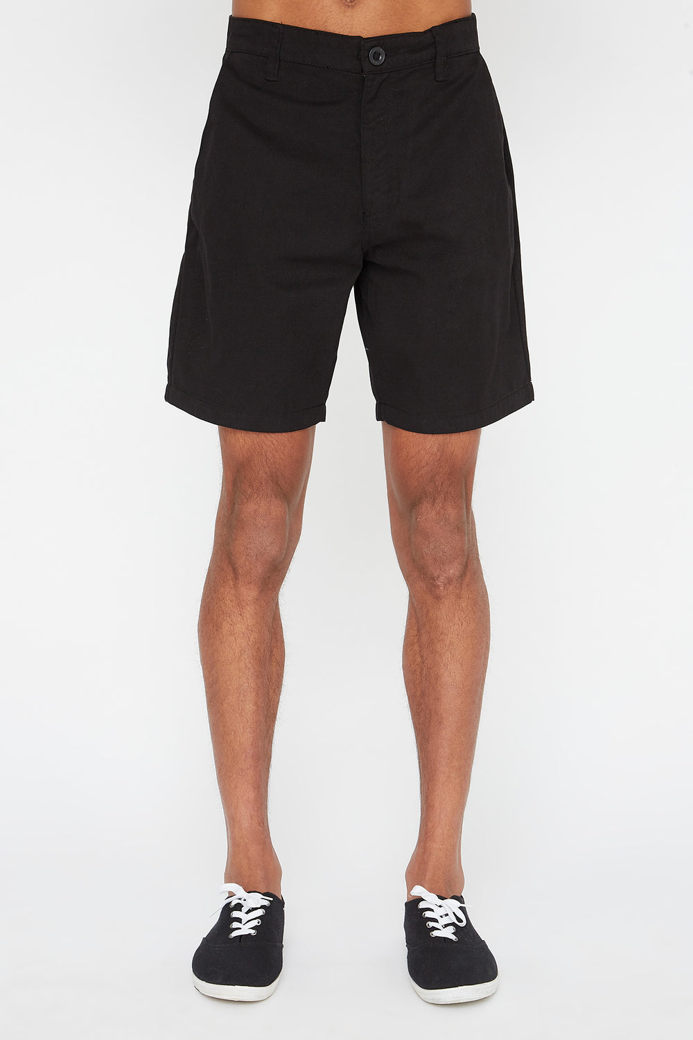 West49 Mens Slim Short Black