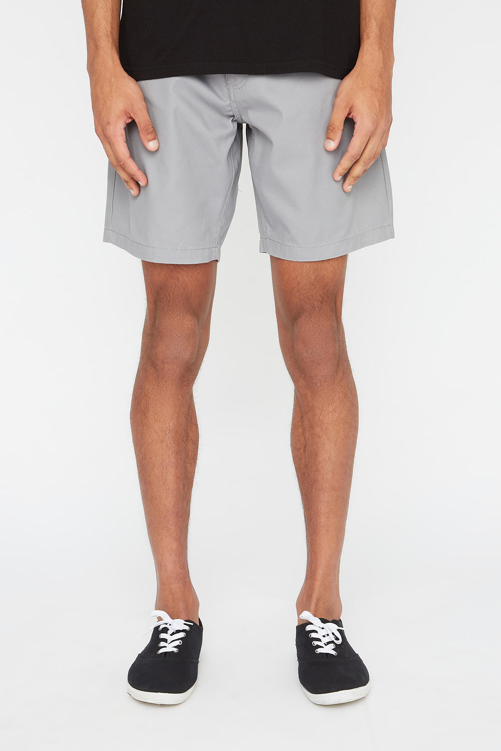 West49 Mens Slim Short Heather Grey