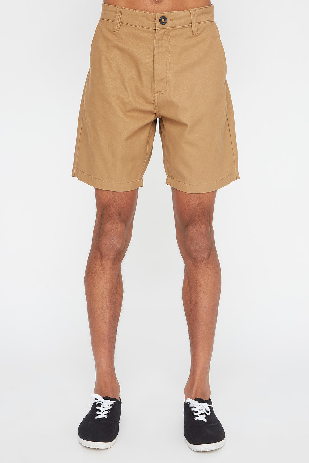 West49 Mens Slim Short Camel
