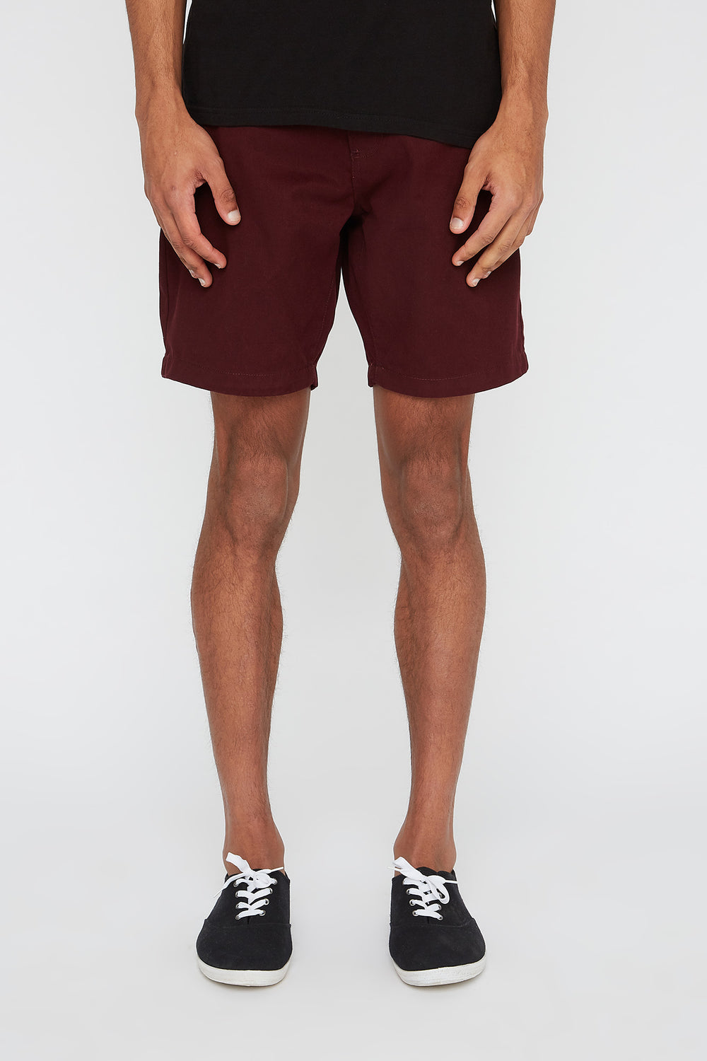 West49 Mens Slim Short Burgundy