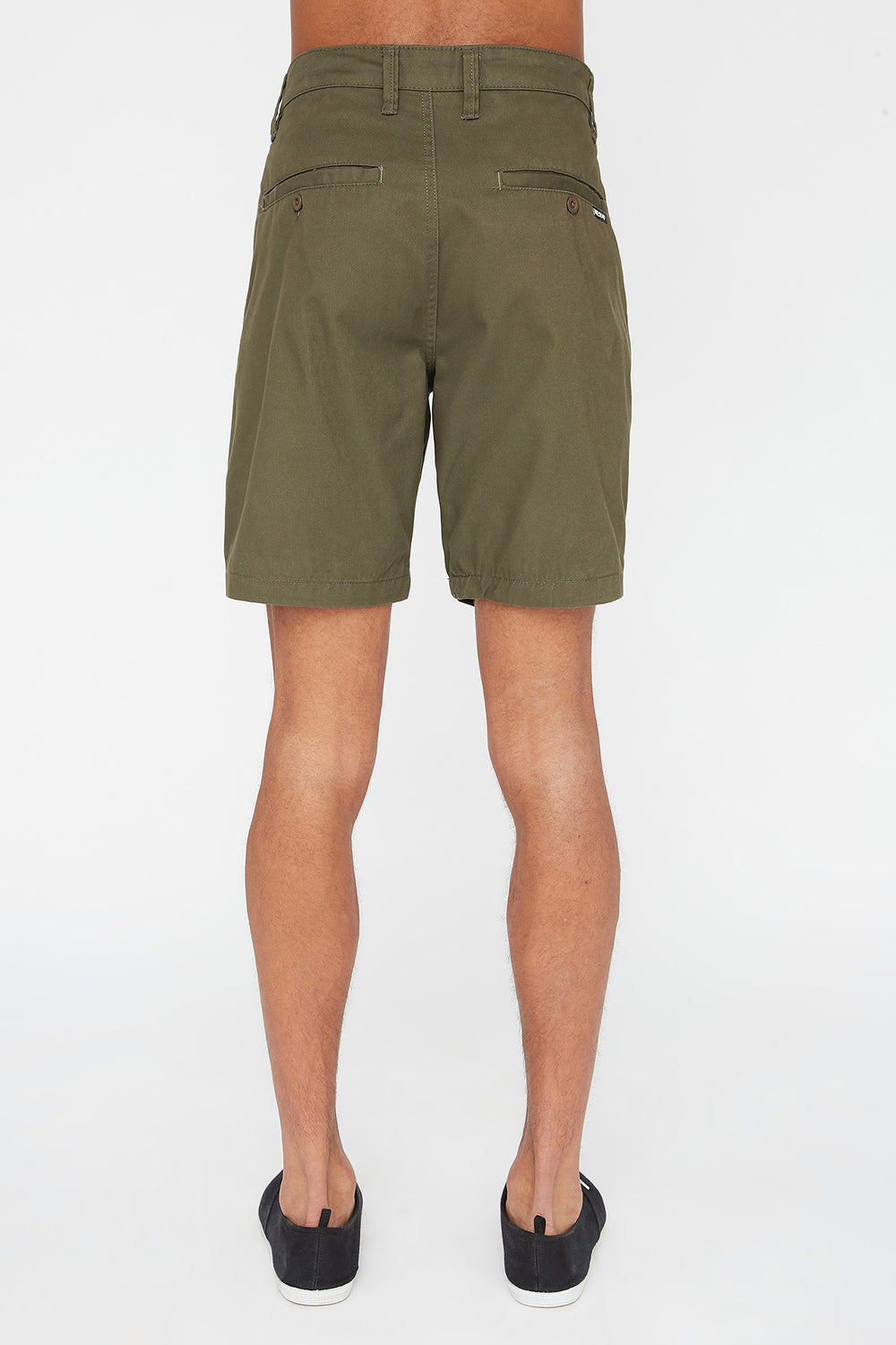 West49 Mens Slim Short Khaki