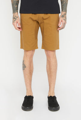West49 Mens Solid Twill Jogger Short