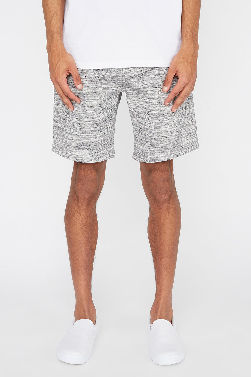 Short En Molleton Space Dye West49 Homme Gris