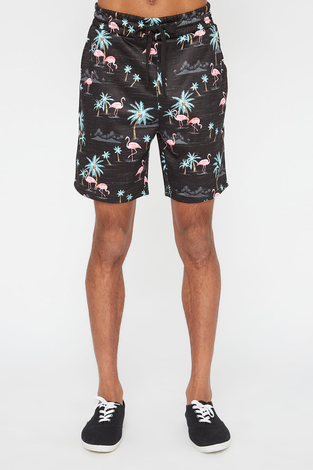 Short Flamants Roses Zoo York Homme Gris Noir
