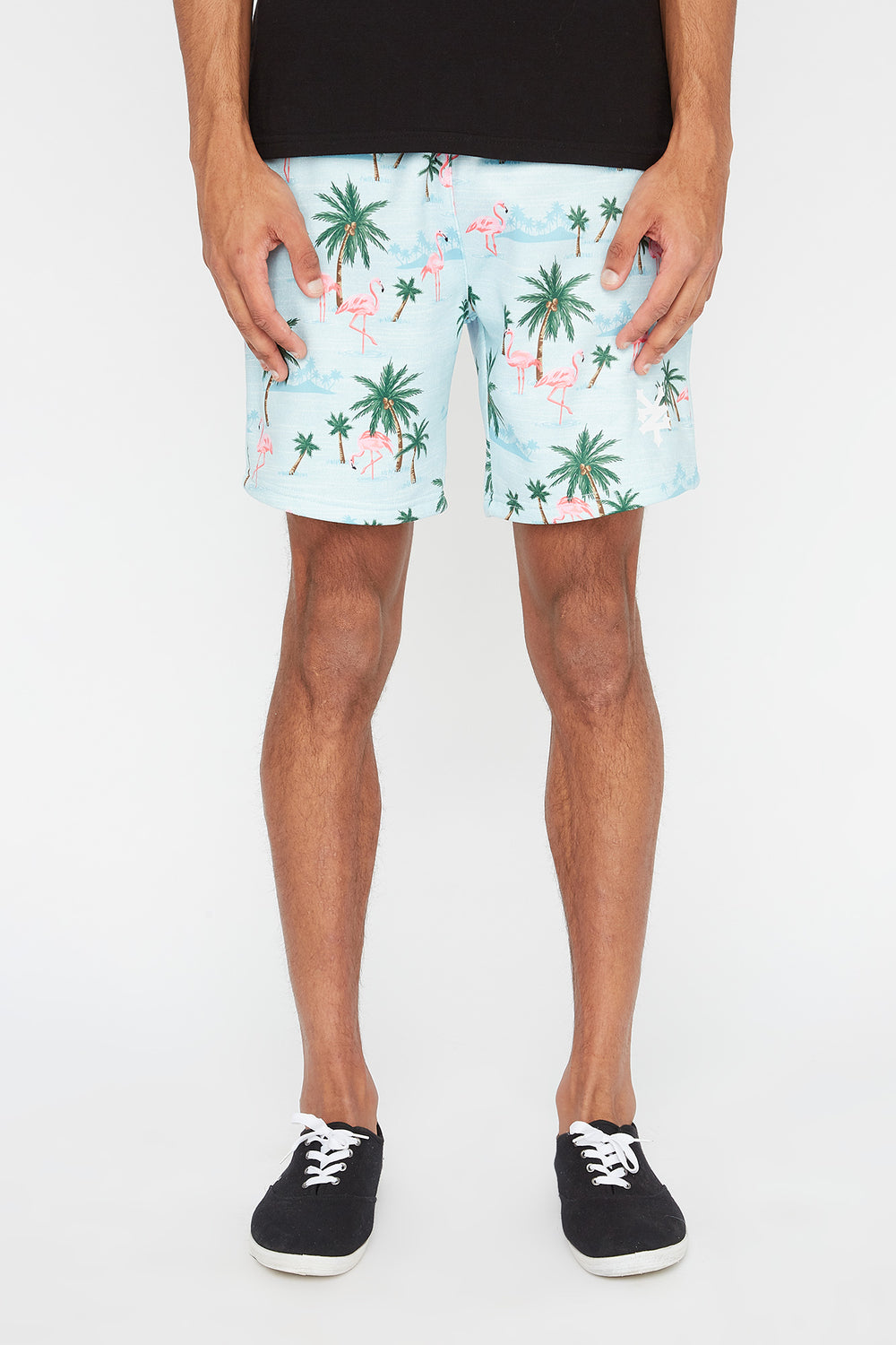Short Flamants Roses Zoo York Homme Sauge