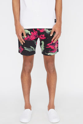 Young & Reckless Mens Electric Floral Short