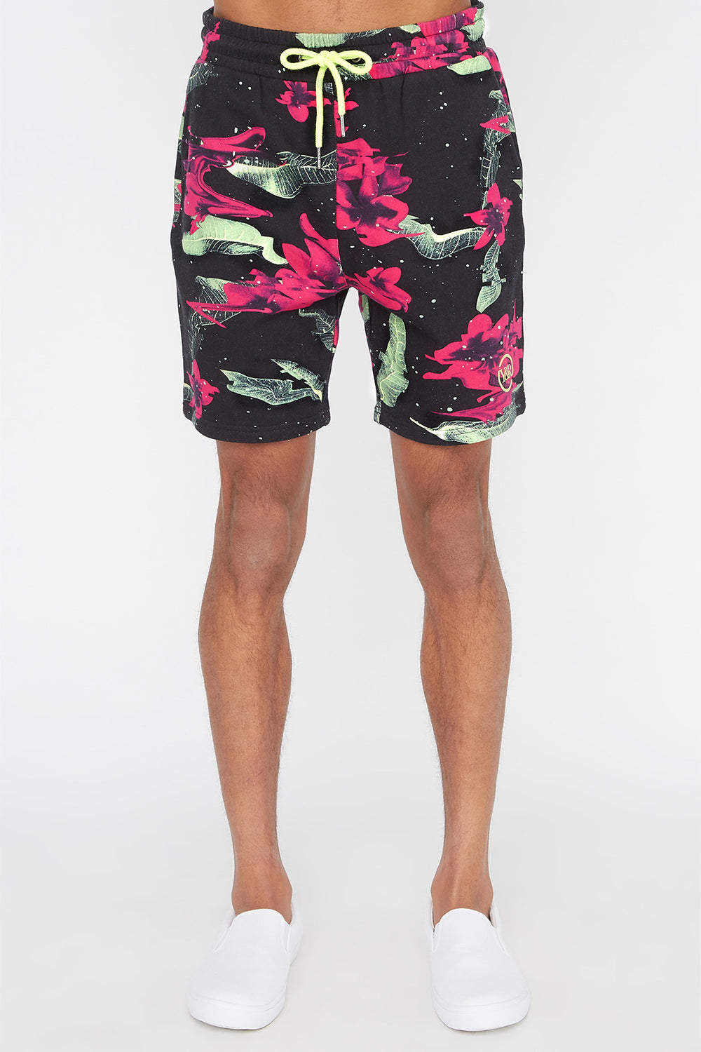 Young & Reckless Mens Electric Floral Short Black