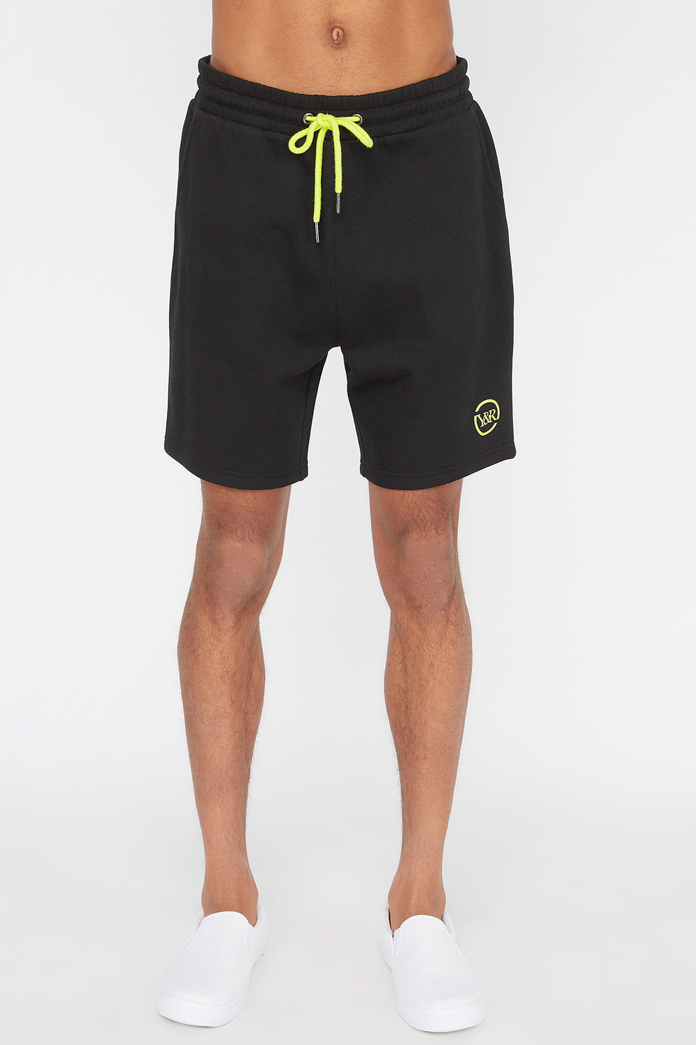 Young & Reckless Mens Neon Short Black