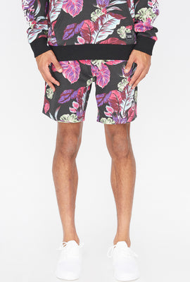 Young & Reckless Mens Neon Floral Shorts