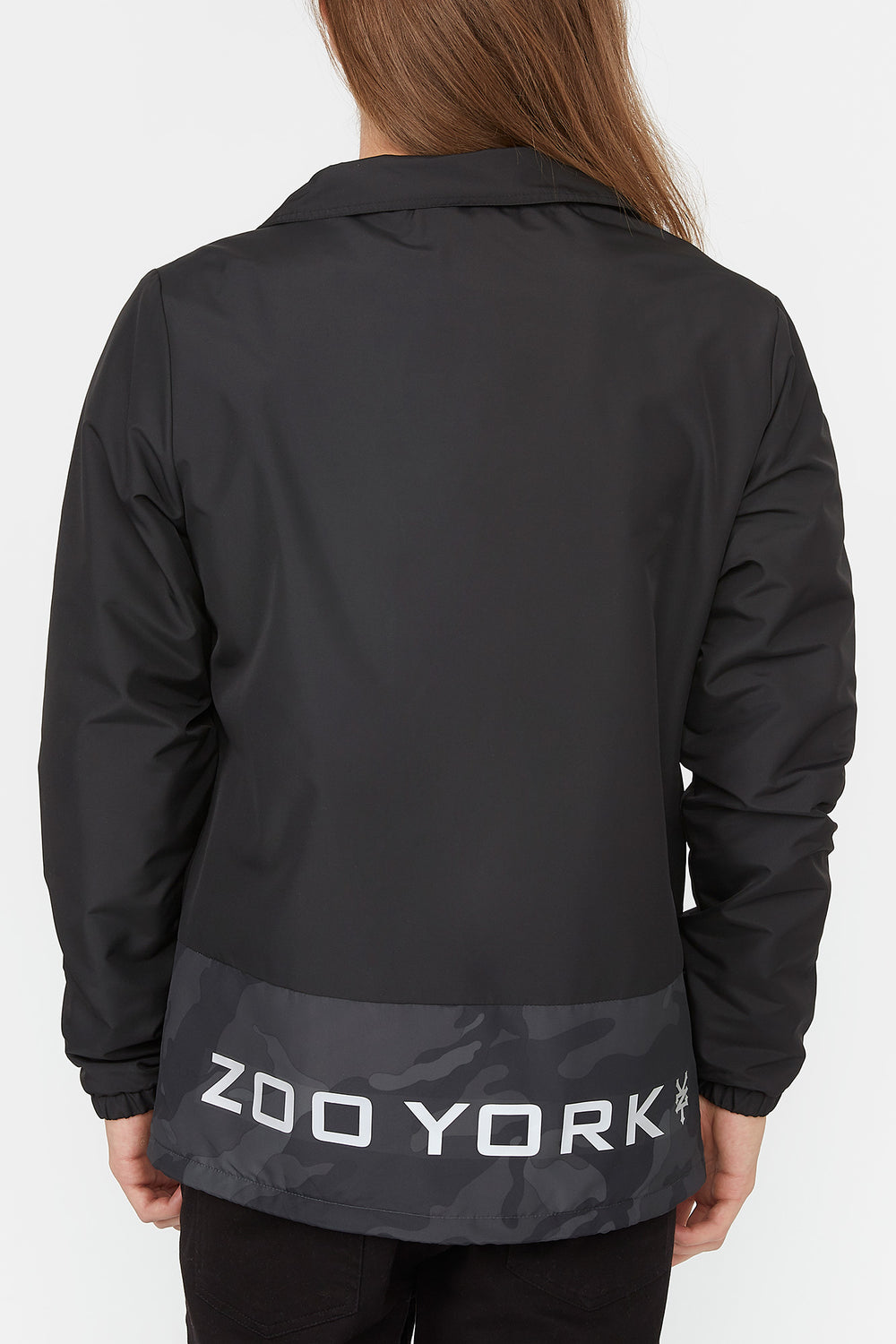 Zoo York Mens Bottom Panel Coach Jacket Black
