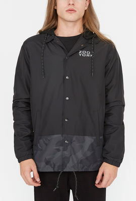 Zoo York Mens Bottom Panel Coach Jacket
