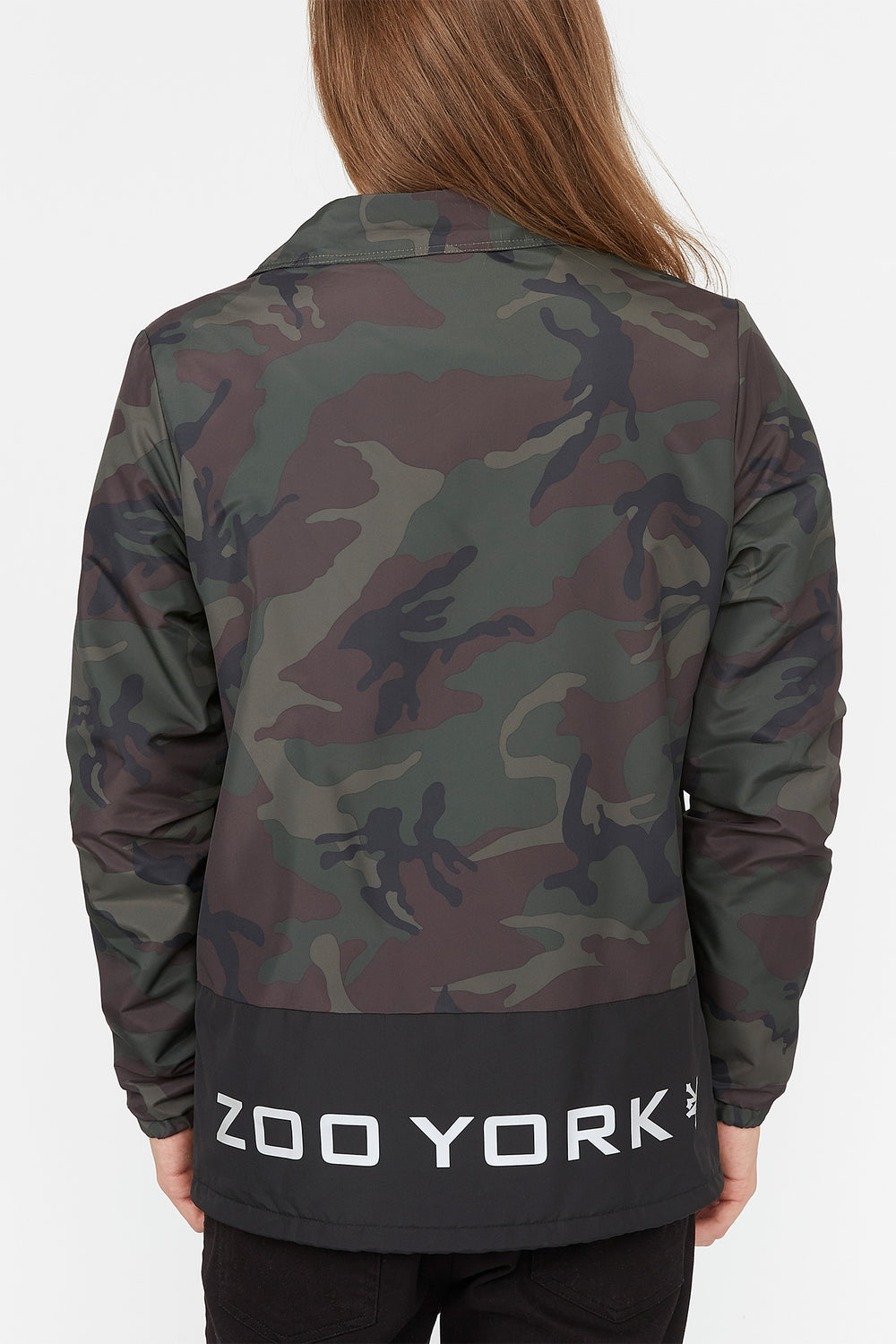 Zoo York Mens Bottom Panel Coach Jacket Camouflage