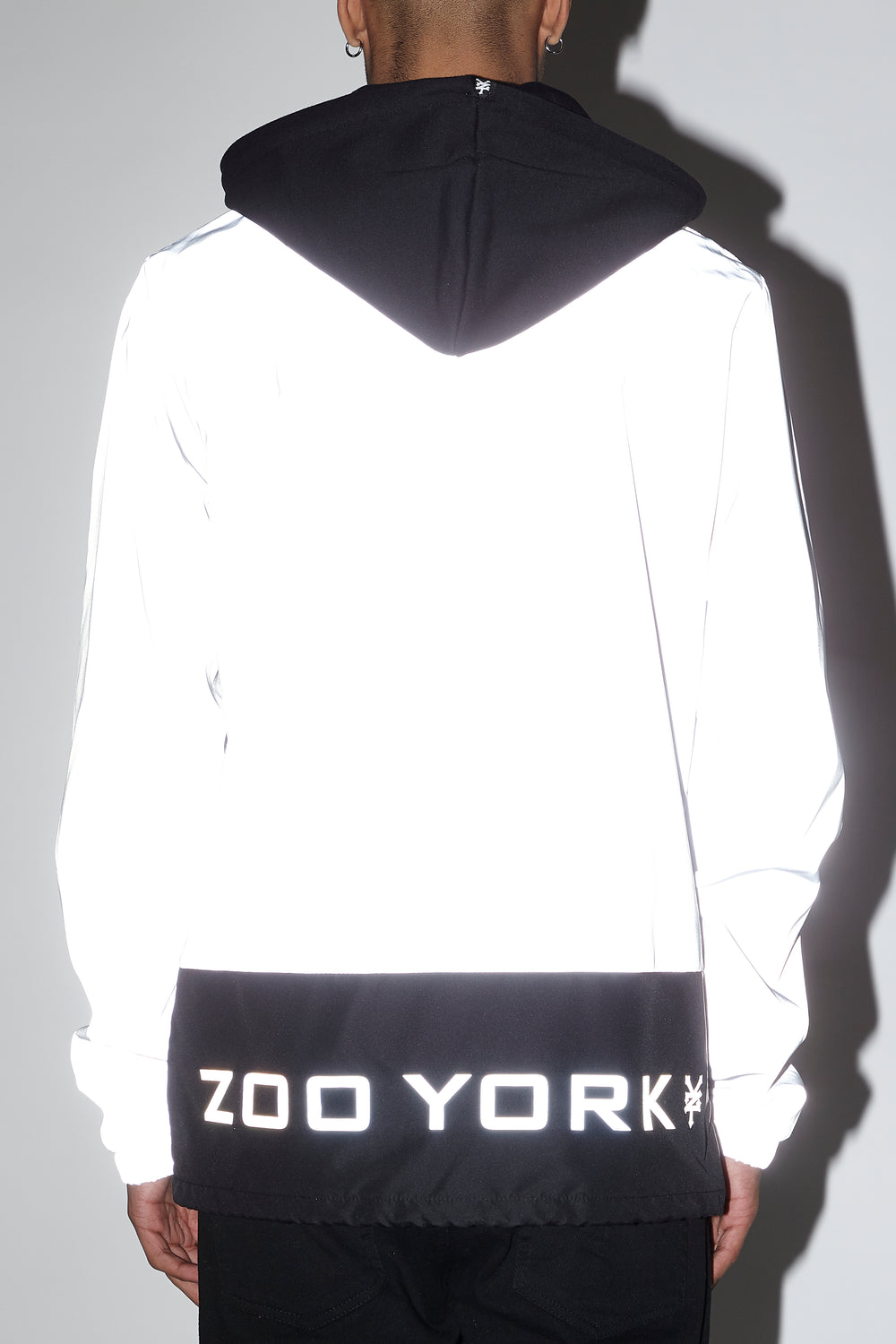 Zoo York Mens Bottom Panel Coach Jacket Light Grey
