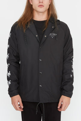 Zoo York Mens Reflective Logos Coach Jacket