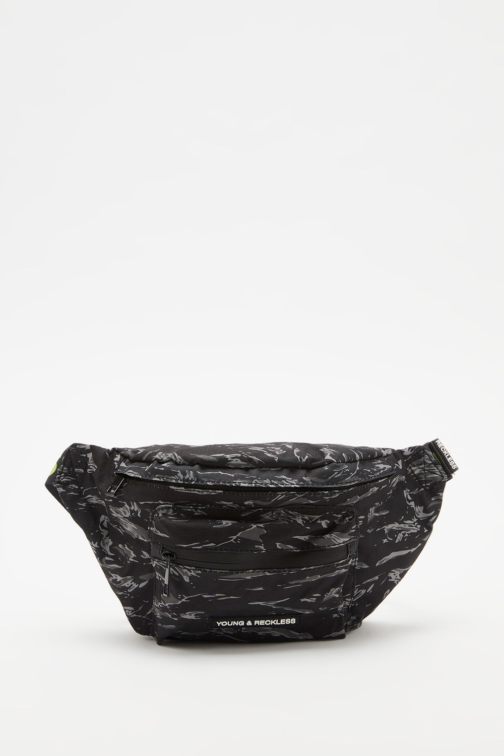 Young & Reckless Camo Fanny Pack Black