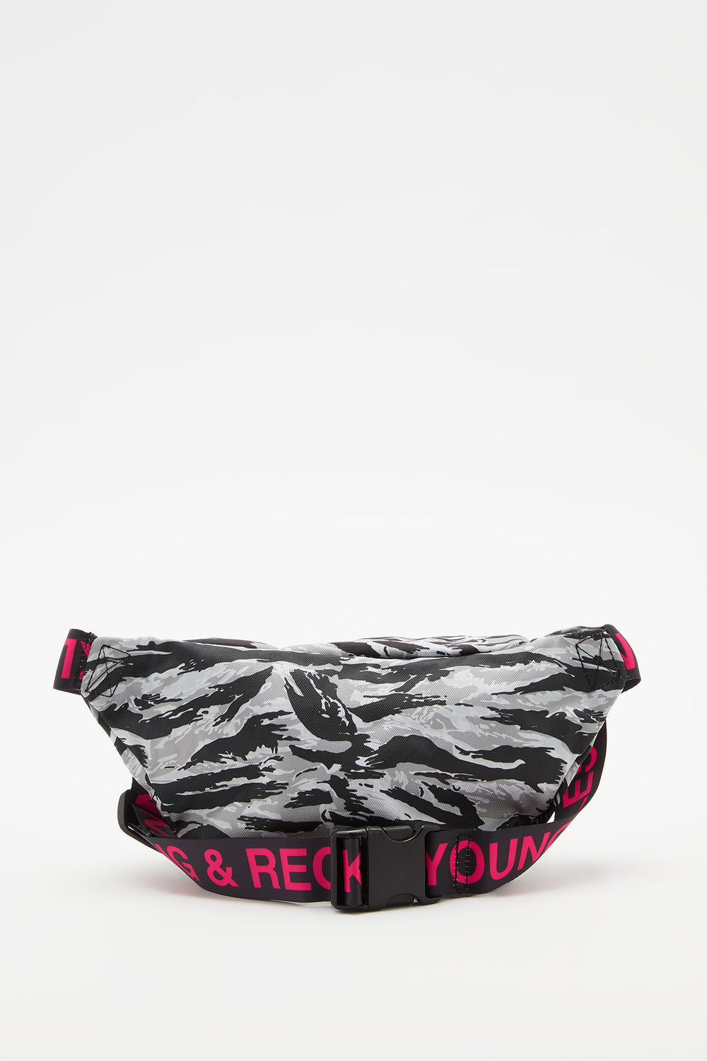 Sac Banane Camouflage Young & Reckless Gris