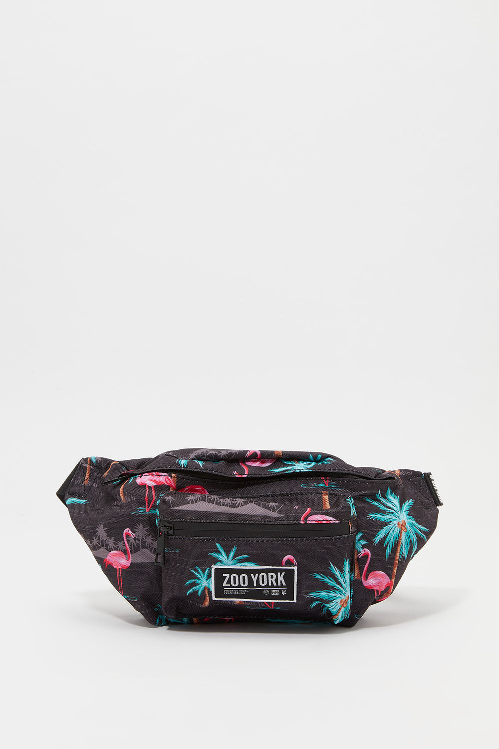 Zoo York Flamingo Print Fanny Pack Charcoal