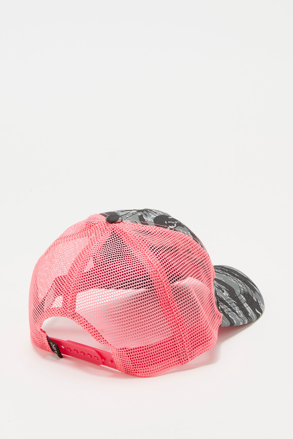 Young & Reckless Mens Camo And Neon Trucker Hat Pink