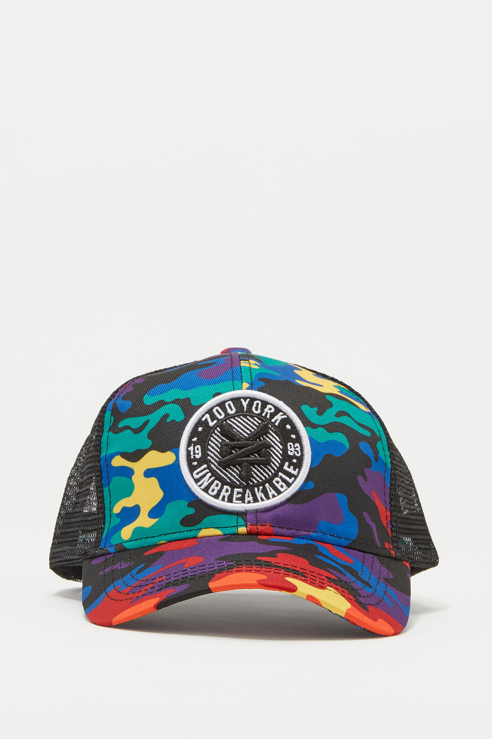 Zoo York Mens Rainbow Camo Trucker Hat Multi