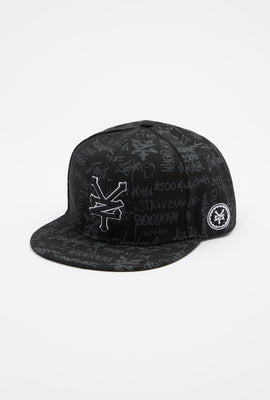 Zoo York Mens All Over Graffiti Print Hat