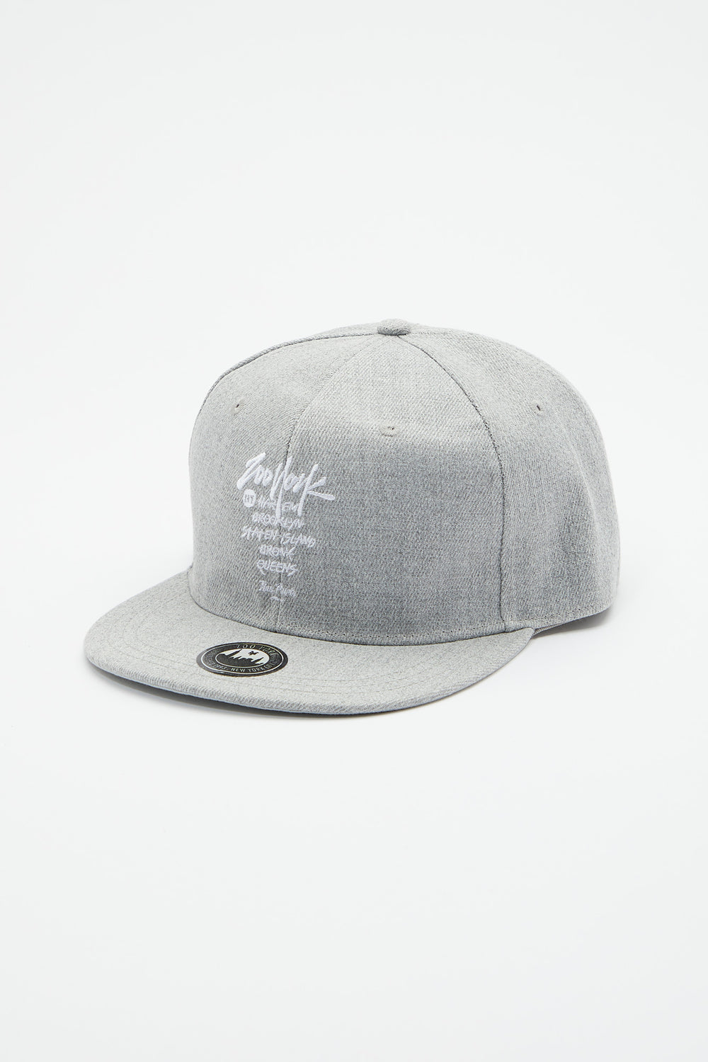 Zoo York Mens City Boroughs Snapback Heather Grey