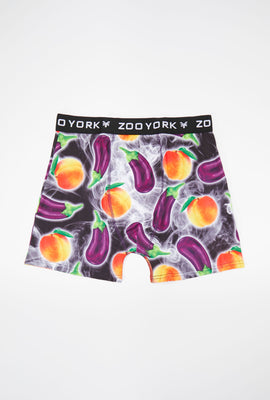 Zoo York Mens Eggplant Peach Boxer Brief