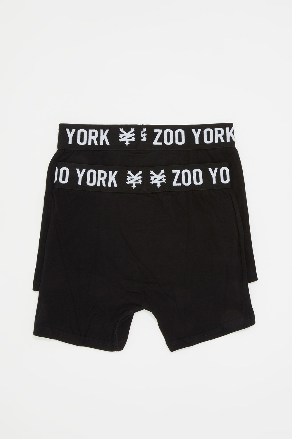 Zoo York Mens 2-Pack Cotton Boxer Briefs Black