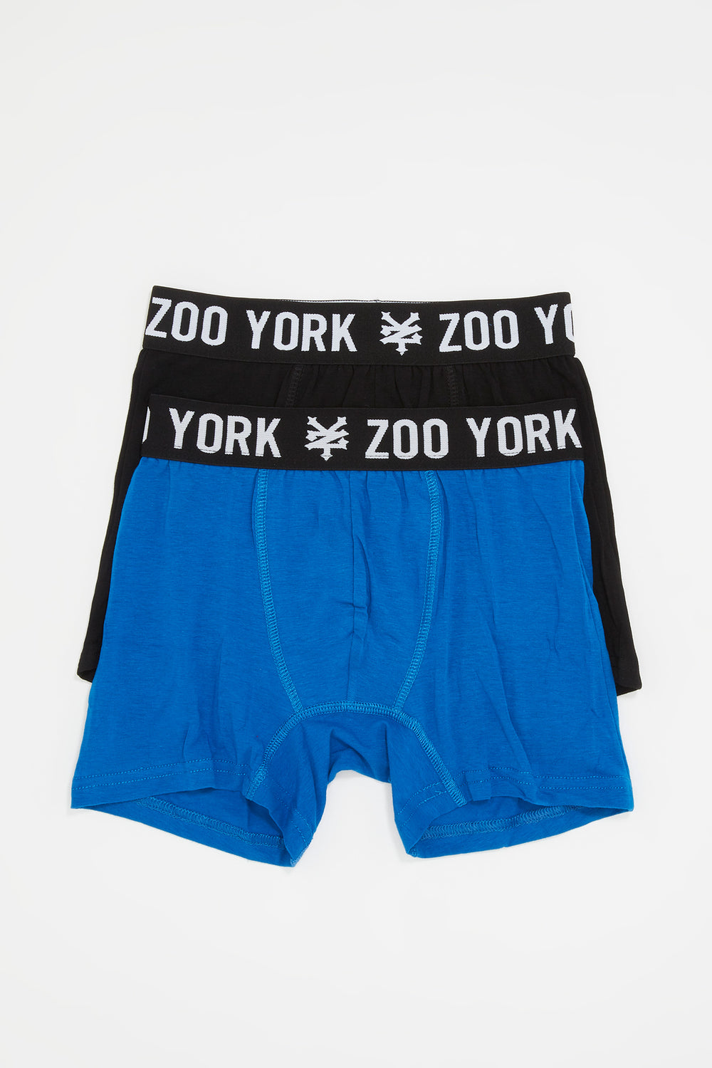 Zoo York Mens 2-Pack Cotton Boxer Briefs Blue