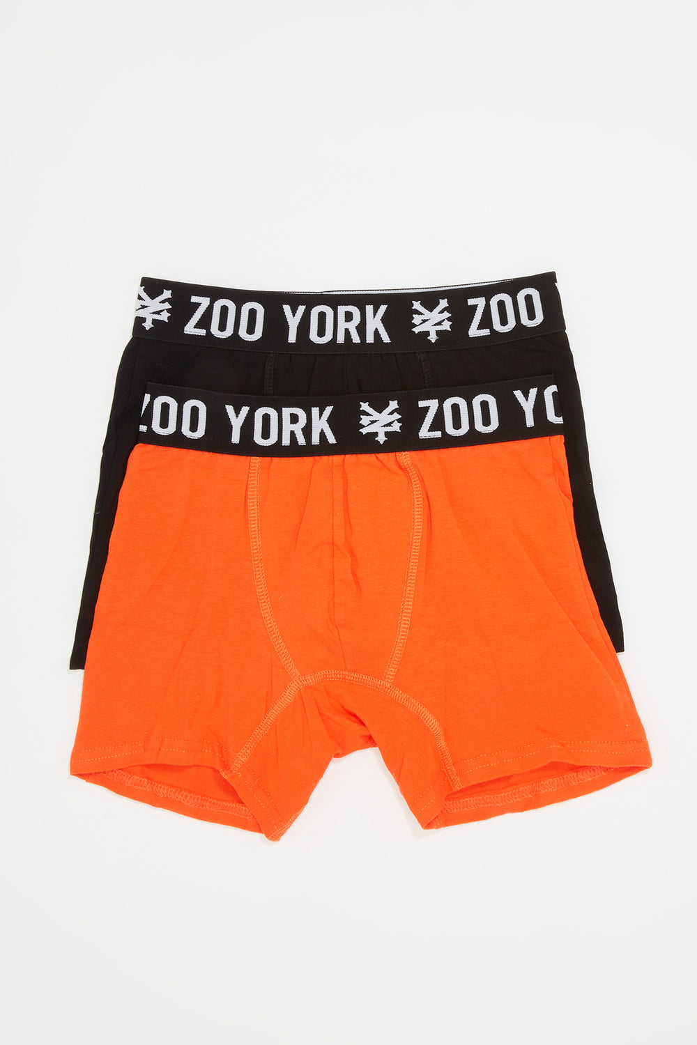 2 Paires de Boxer En Coton Zoo York Homme Orange