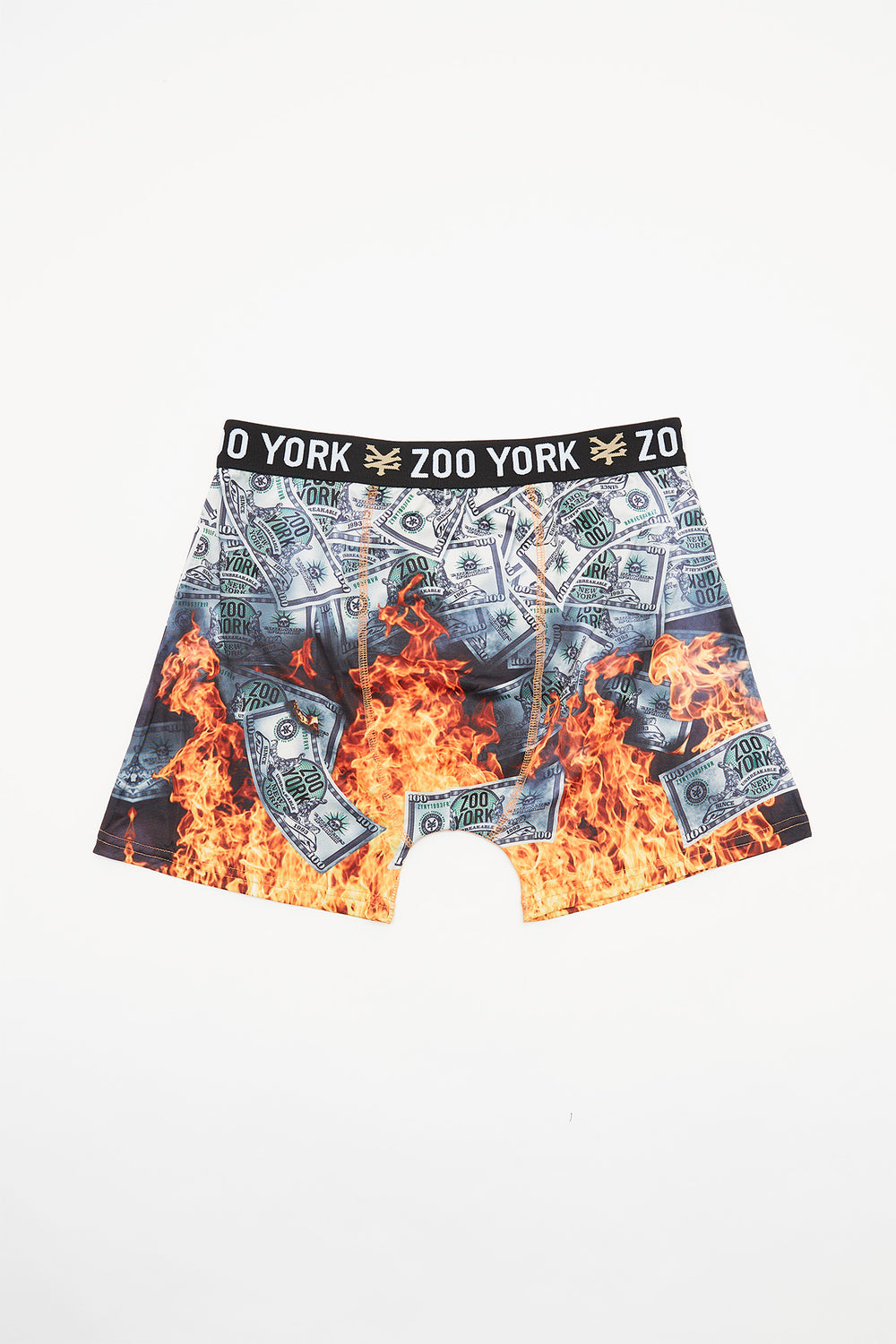 Zoo York Mens Money Flame Boxer Brief Green